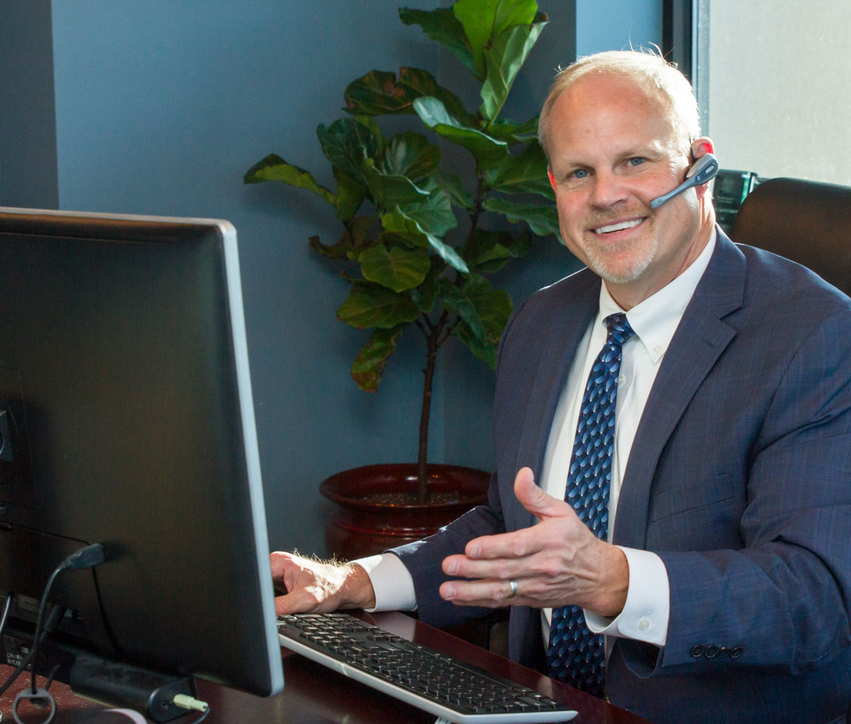 Dan Langworthy, Financial Advisor - Welcoming you to his office in Rochester, MN.